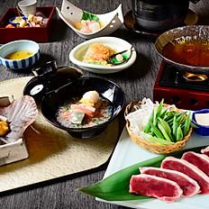 冬会席「黒豚」の豆乳小鍋 または すき鍋コース お一人様 8,000円(税抜)