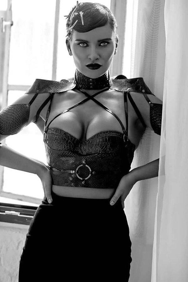 kat houshka , latex designer , french fashion designer , latex belt , vinyl belt , latex lingerie , high fashion latex ,
