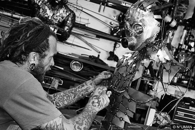 human metal sculptor artist