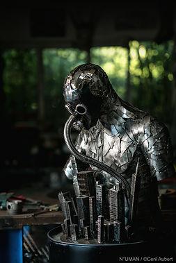 human sculptures metal