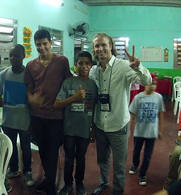 Hanging with the congregation in Rio de Janeiro, Brazil