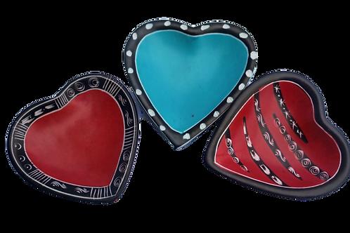 Soapstone heart bowl