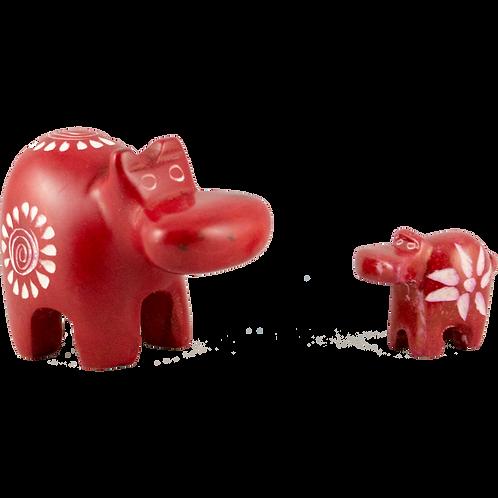 Soapstone Hippos