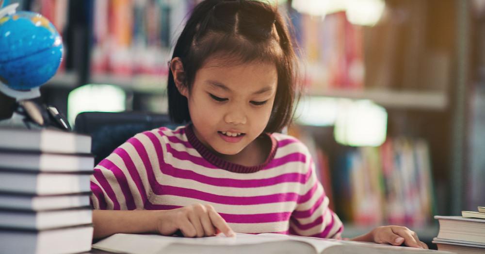 孩子自行閱讀