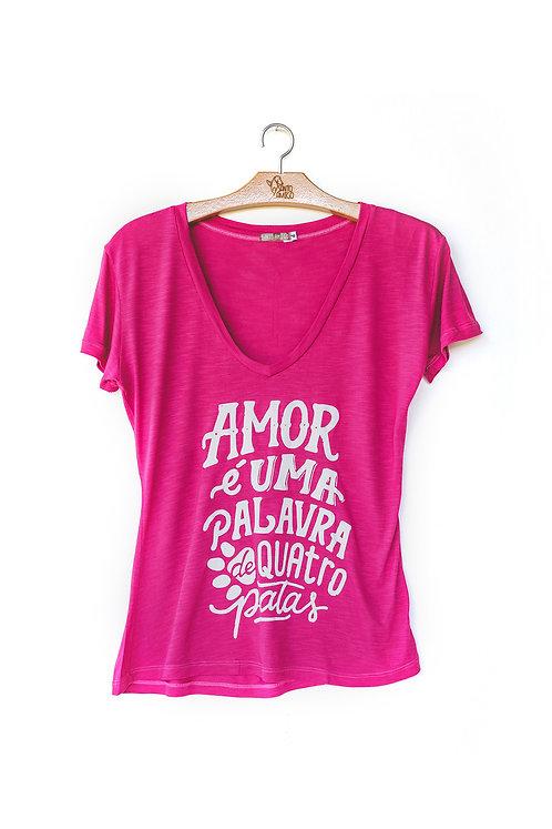 Blusa Amor é uma palavra de 4 patas