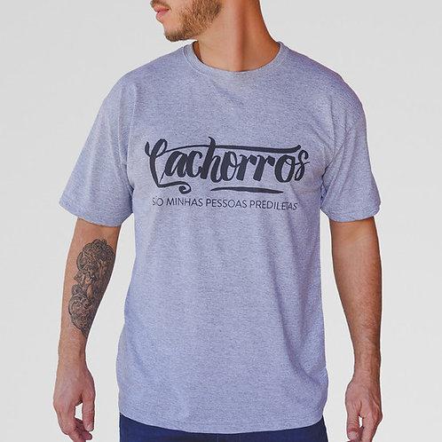 Camiseta Cachorros prediletos (cinza)