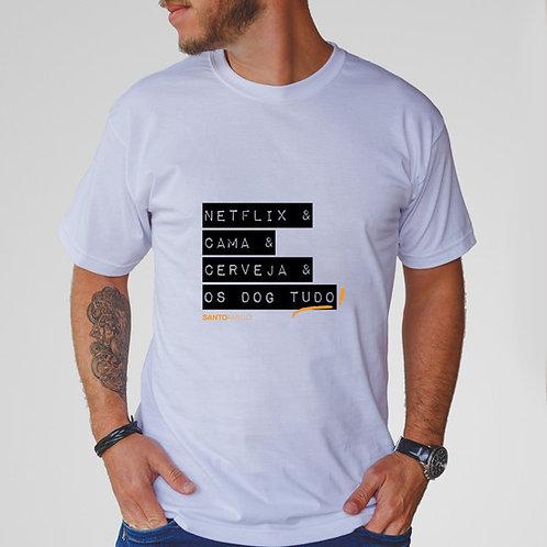 Camiseta NetFlix e Cerveja