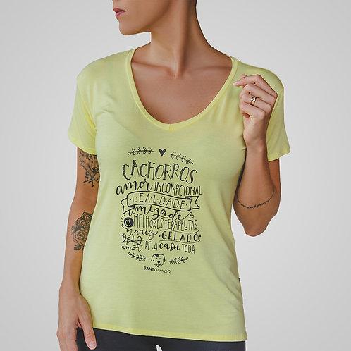 Blusa Cachorros amor incondicional (amarela)