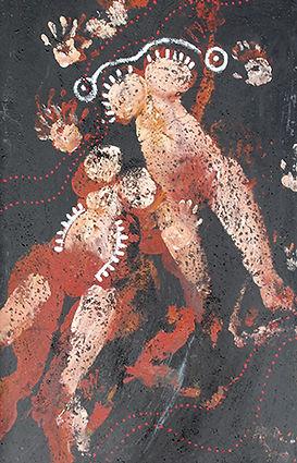 Empreintes ethniques de Pascaline Bossu d'après les anthropométries d'Yves Klein