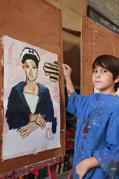 Marin, peinture de Chrystos d'apres Tsarouchis