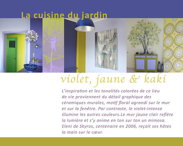 Kokkino Home, showroom de Pascaline Bossu, décoration, fresques, Cuisine bleue nuitne