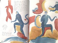les singes bleus