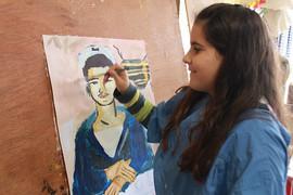 Marin, peinture d'Anna d'apres Tsarouchis