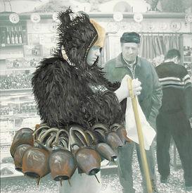 photo peinte du carnaval de Skiros, Grèce, Pascaline Bossu