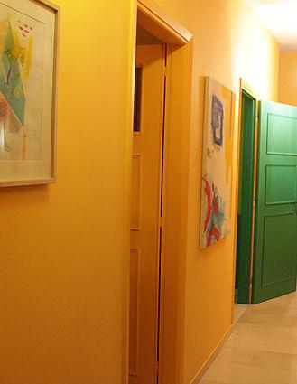 Show-room de Pascaline Bossu, Kokkino Home, coloriste, fresques murales