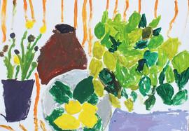 peinture d'enfant - Nature morte