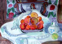 Peinture d'enfant - Cezanne