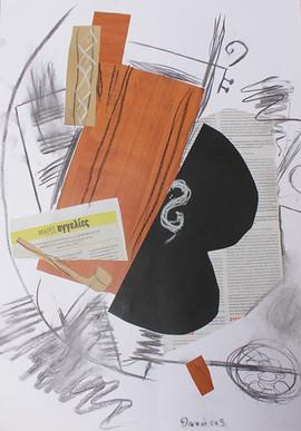 Peinture-collage d'enfant - Braque