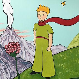 Fresque murale, Le Petit Prince, peinture acrylique de Pascaline Bossu. Institut français de Grèce