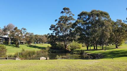 Uma das diversas áreas verdes do Campus, próximo ao Prédio de Estudos em Educação.