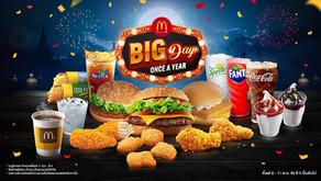 แมคดิลิเวอรี่ Big Day Once A Year 1 ปี มีเพียงครั้งเดียวโปรจัดหนัก อร่อยคุ้ม เริ่มต้นเพียง 19 บาท
