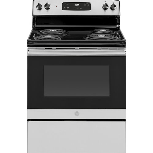 "Stainless GE® 30"" Free-Standing Electric Range"