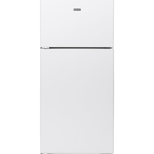 White Hotpoint® 15.6 Cu. Ft. Recessed Handle Top-Freezer Refrigerator