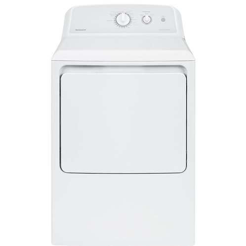 White Hotpoint® 6.2 cu. ft. Capacity aluminized alloy Electric Dryer