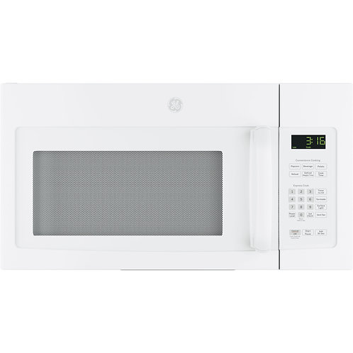 White GE® 1.6 Cu. Ft. Over-the-Range Microwave Oven