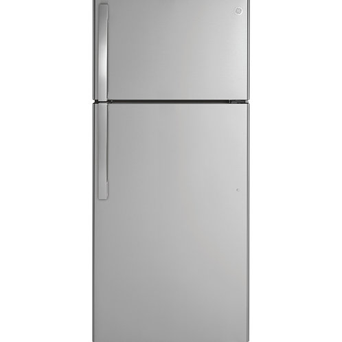 Stainless GE® 16.6 Cu. Ft. Top-Freezer Refrigerator