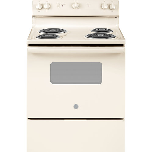 "Bisque GE® 30"" Free-Standing Electric Range"