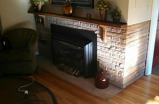 before shot of fireplace