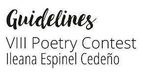 Bases del VIII Concurso de Poesía Ileana Espinel Cedeño