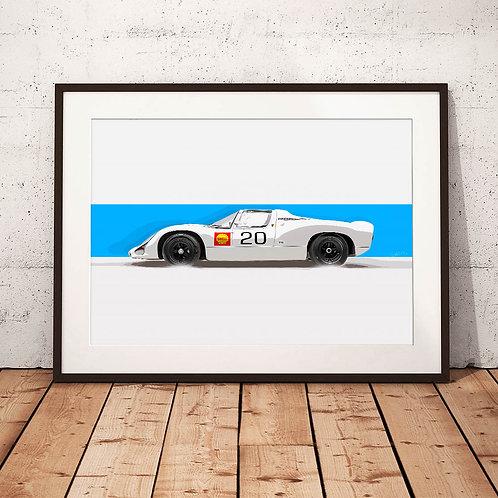 Porsche 910 - 1968 - 'Carrera 10' - Fine Art Print