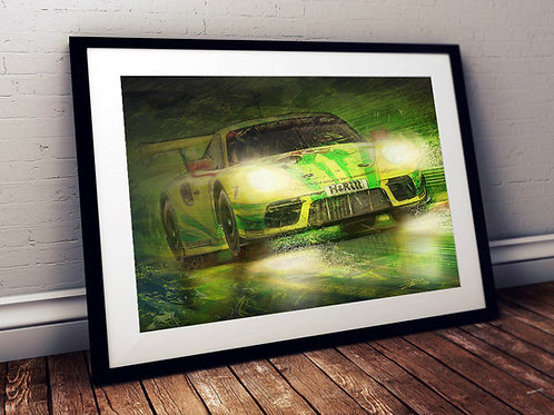 Porsche 911 GT3 Manthey Racing - Nürburgring 24hrs 2019 - Fine Art Print