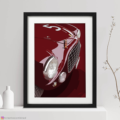 Ferrari 212 Export Berlinetta - 'Caraceni's Hillclimber' - Fine Art Print