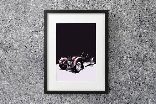 Bugatti 57SC Atlantic 1936 - 'La Voiture Noire' - Fine Art Print