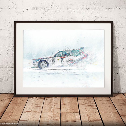 Lancia Delta S4 - Monte Carlo Rally 1986 - 'Fire & Ice' - Fine Art Print