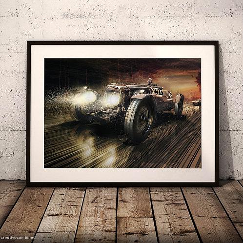 Aston Martin LM9 1933 - '140km/h Morning Shower' - Fine Art Print
