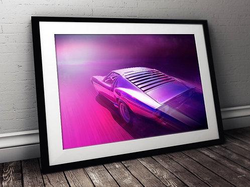 Lamborghini Miura P400 SV - 1972 - Fine Art Limited Edition Print