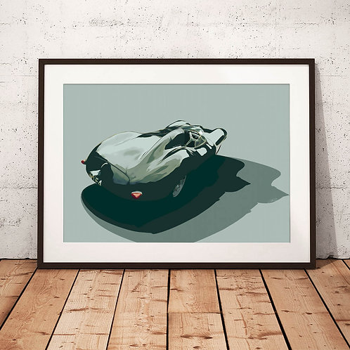 Jaguar D-Type 3.4ltr 1955 - 'XKD 509' - Fine Art Print