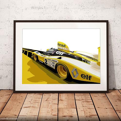 Renault-Alpine A442B  'la troisième sera la bonne' - Fine Art Print