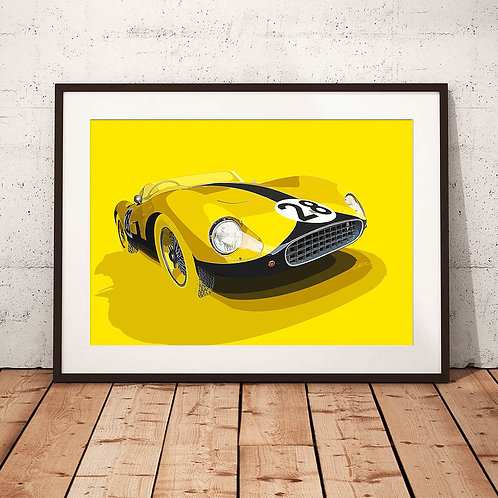 Ferrari 500TRC Le Mans 1957 - 'Ecurie 28' - Fine Art Print
