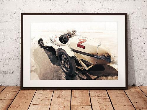 Alfa Romeo 8C 2300 Monza - 'Monaco Muletto' - Fine Art Print