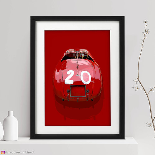 Ferrari 166 MM Barchetta Touring - 'Little Boat #20' - Fine Art Print