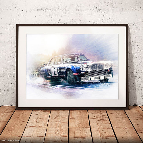 Jaguar XJ12C Broadspeed British Leyland - 'Brute Force' - Fine Art Print