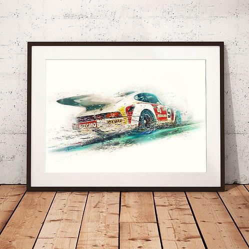 Porsche 911 Carrera 3.0 RSR 1974  - 'Cafe Mexicano' - Fine Art Print