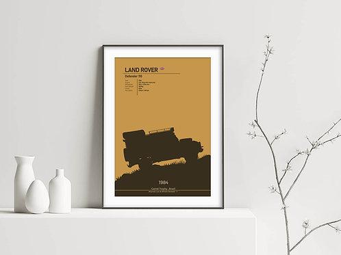 Land Rover Defender 110 - Camel Trophy 1984, Brazil - Fine Art Print