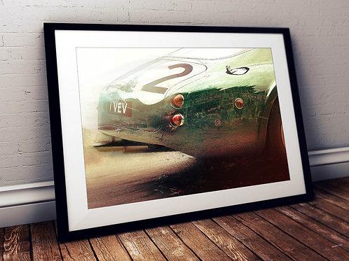 Aston Martin DB4GT Zagato -  'Chequered History' - 1961 Le Mans - Fine Art Print
