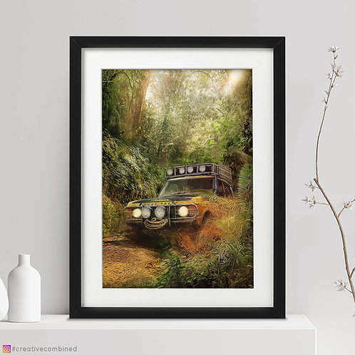 Range Rover Classic - Camel Trophy 1981 - 'King of the Jungle' - Fine Art Print